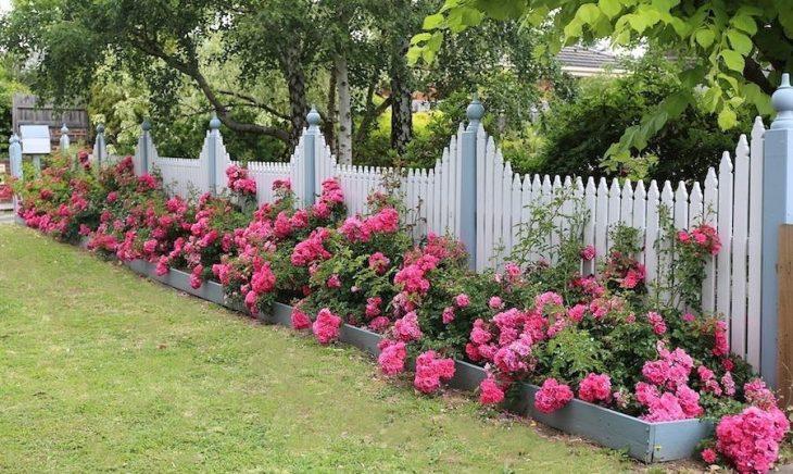 садовые заборы профнастила