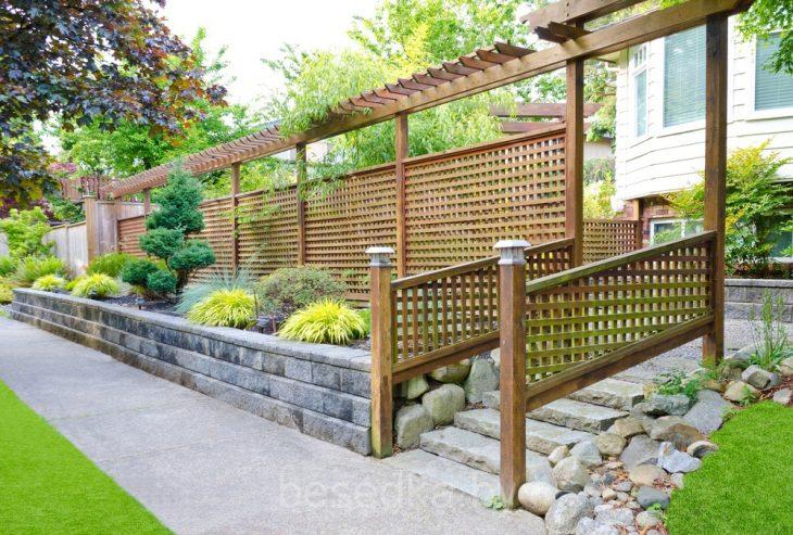 садовые заборы из дерева