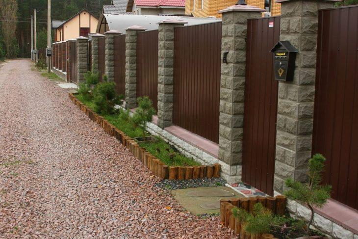 ограждение садового участка забором
