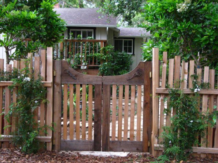 виды садовых заборов