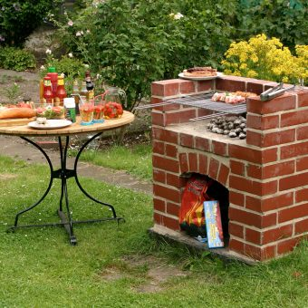строительство печи барбекю