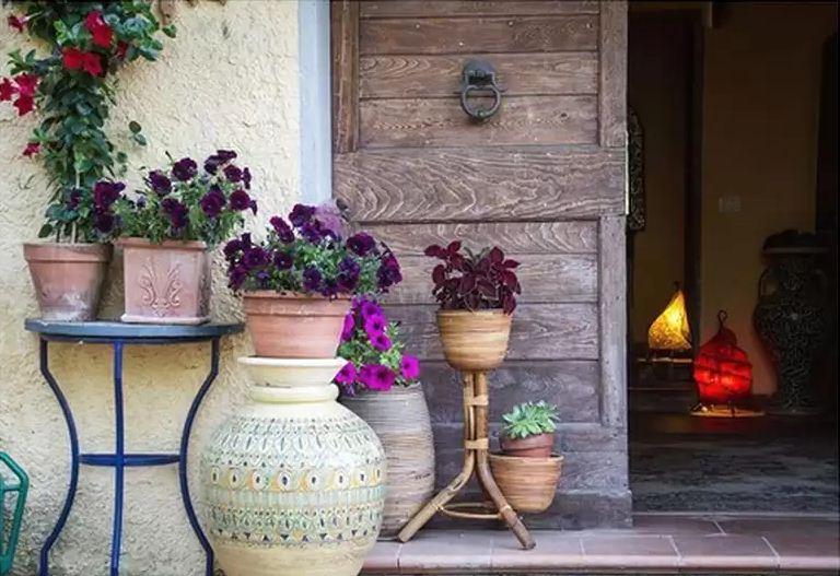 напольные керамические горшки для цветов