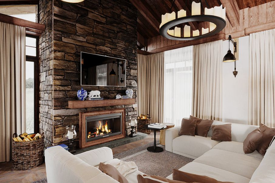 Интерьер загородного дома в современном стиле. Фото проекты и стили загородных домов