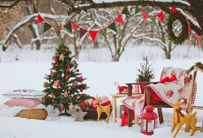 Как празднично и красиво украсить приусадебный участок к Новому 2020 году - Обзор