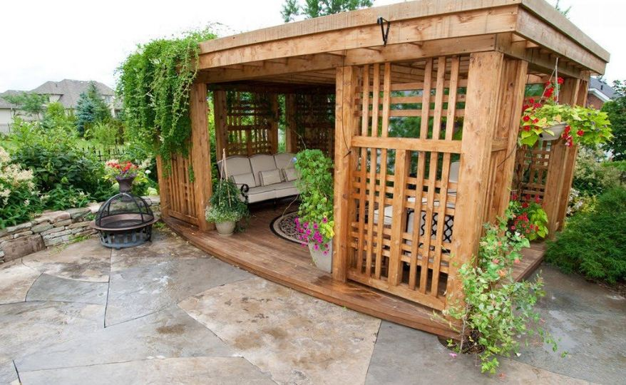 варианты садовых беседок