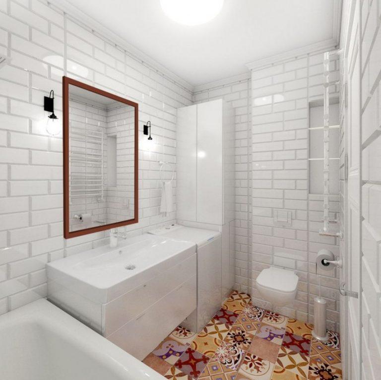 скандинавская ванная комната