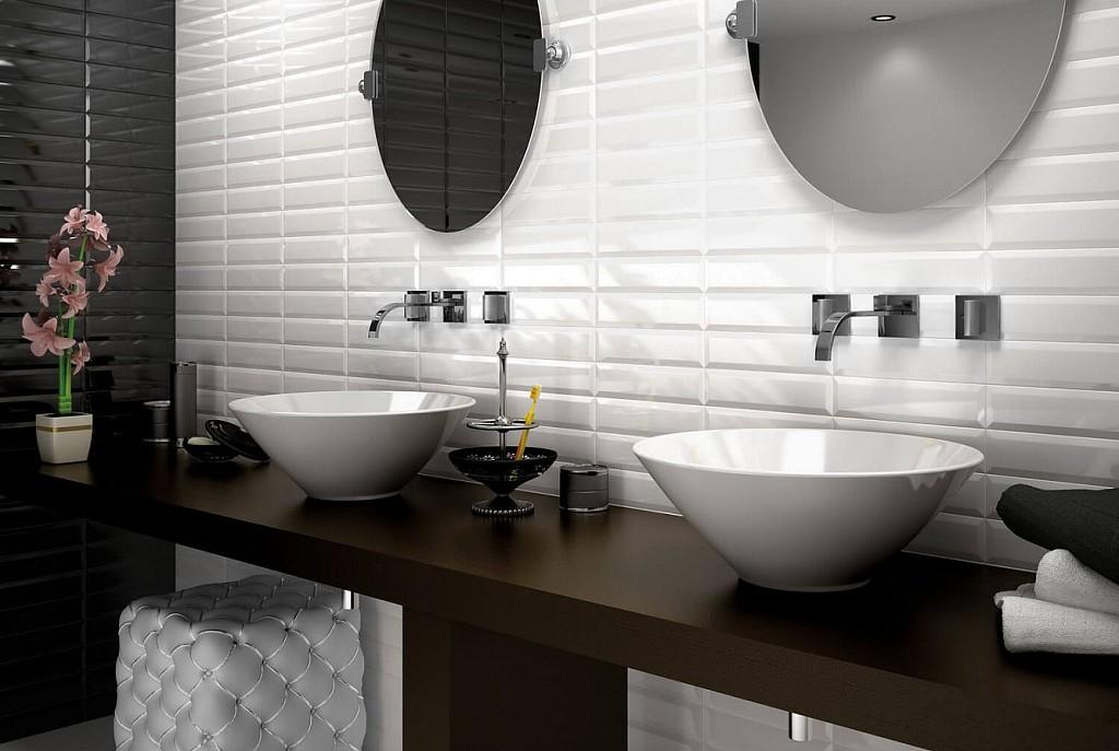 скандинавская ванная комната в квартире