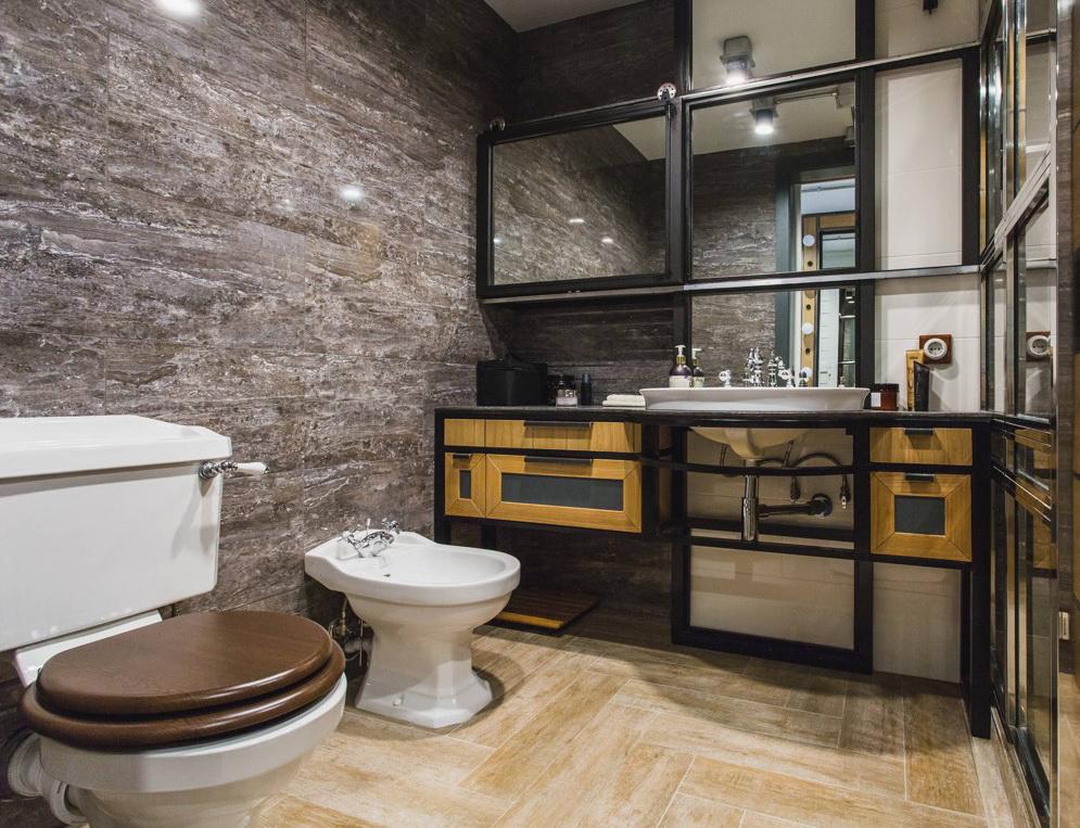 белая ванная комната в скандинавском стиле