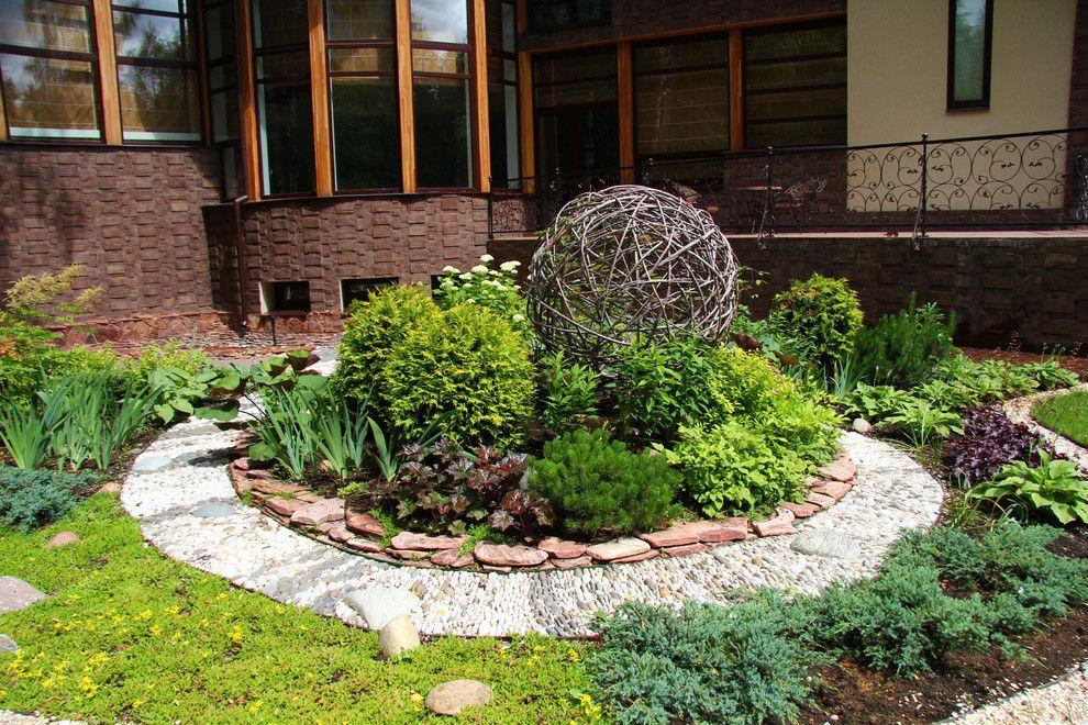 садовый дизайн клумбы