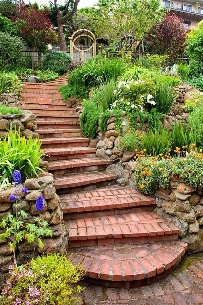 садовая лестница фото