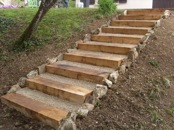 лестница на садовом участке