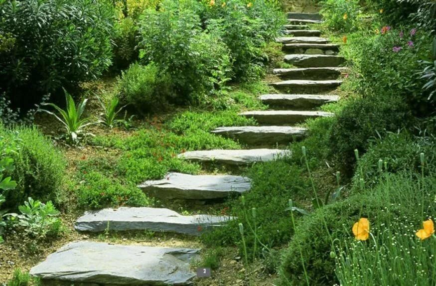 бетонная лестница на участке