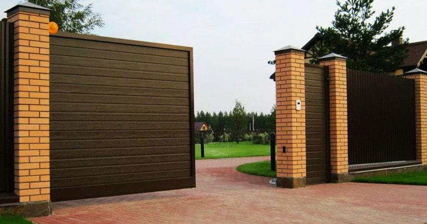 высота въездных ворот