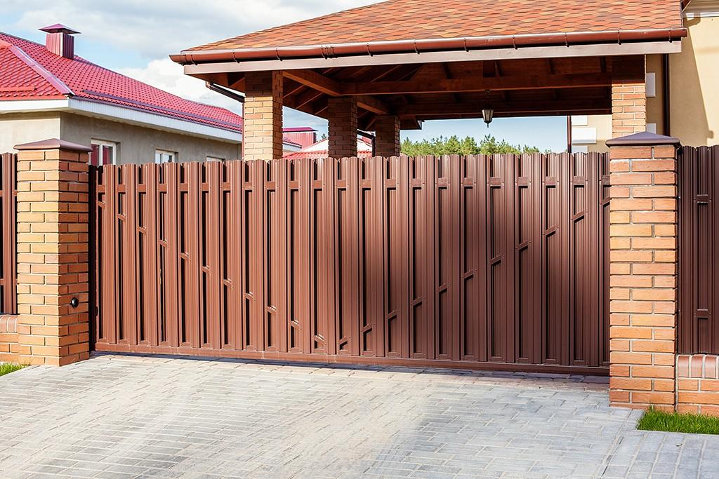 ширина въездных ворот