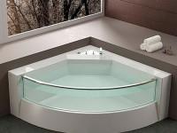 Угловая ванная — 35 фото идей дизайна интерьера