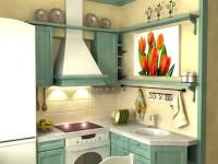 Интерьер маленькой кухни в хрущевке. 50 фото идей
