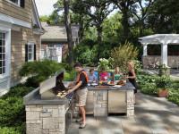 Как обустроить двор частного дома стильно, бюджетно и функционально (120+ фото)
