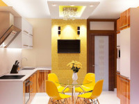 Современный интерьер кухни в квартире 2020