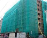 Защита фасада с помощью полимерной сетки