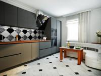 Плитка для кухни на пол: 100 фото, идеи дизайна с керамогранитом, кафелем, плиткой ПВХ, советы по выбору