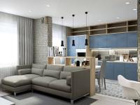 Дизайн кухни-столовой-гостиной: идеи интерьера на 70 фото
