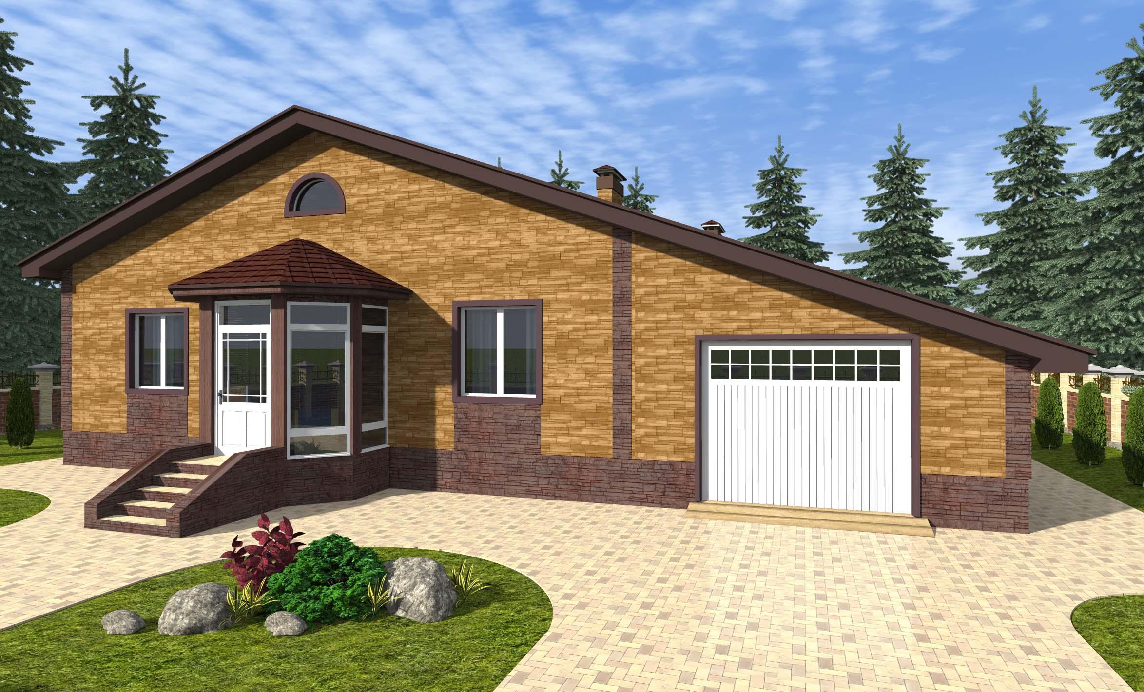 проект-одноэтажного-дома-с-гаражом
