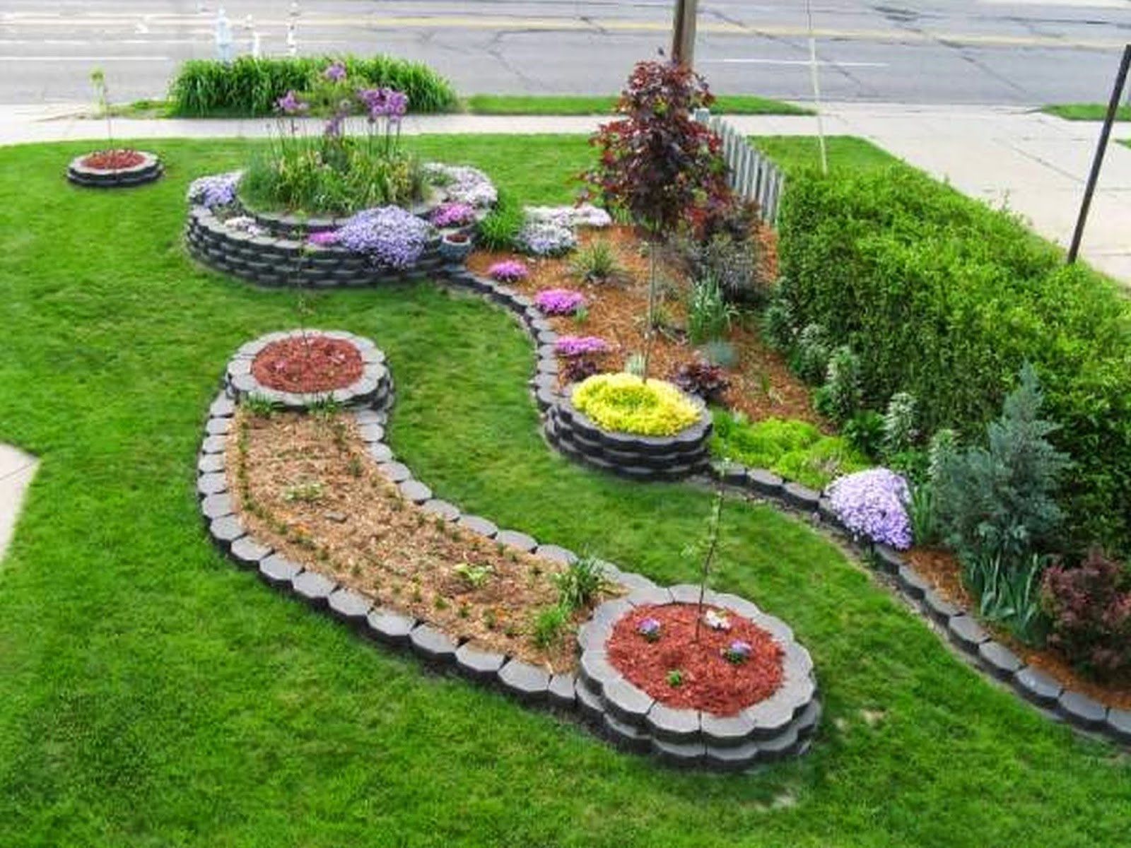 garden-and-patio-modern-landscaping-house-design-with-stone-raised-bed-for-herbs-flowers-and-vegetable-garden-plants-with-green-grass-garden-ideas-small-front-yard-landscape-ideas