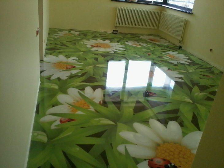 интерьер кухни пол