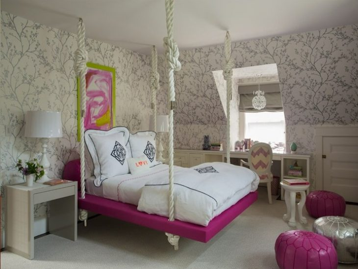 Подвесные кровати - 30 фото идей дизайна интерьера