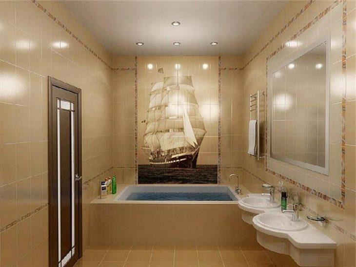 варианты отделки маленькой ванной комнаты