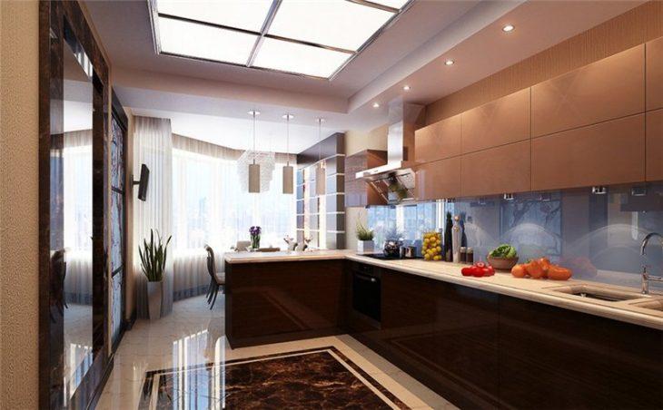 Красивый интерьер современной кухни 2019
