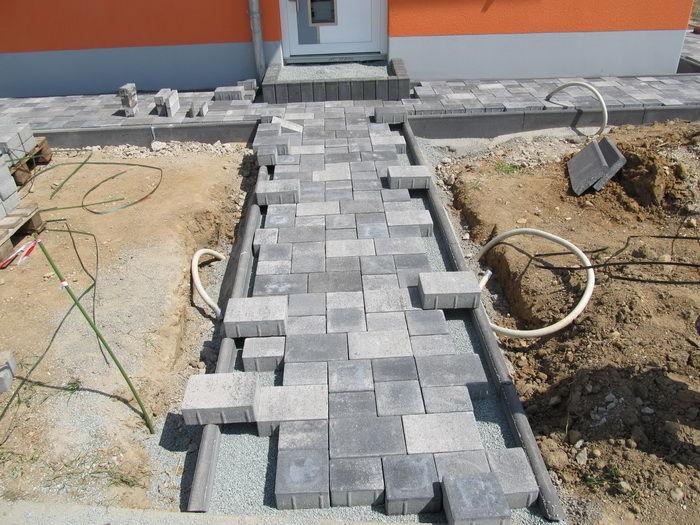 тротуарная плитка вокруг дома как сделать