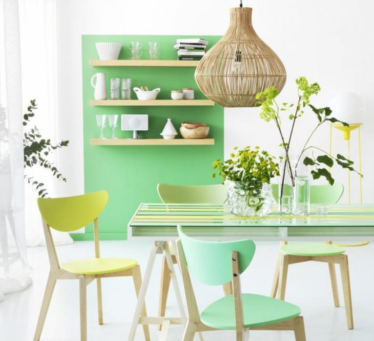 кухни мятного цвета фото в интерьере