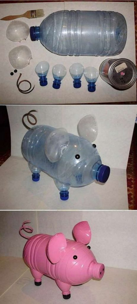 поделка из литровой пластиковой бутылки