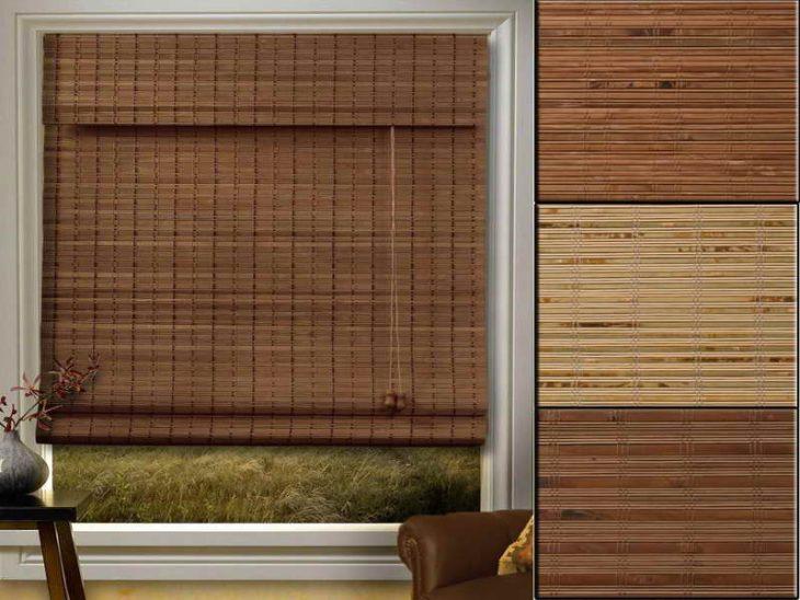 жалюзи бамбуковые горизонтальные