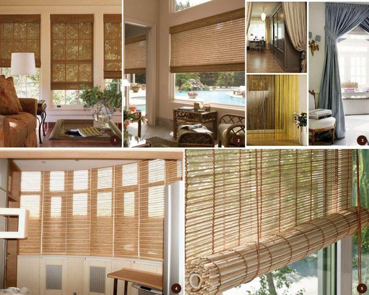 бамбуковые жалюзи на окна
