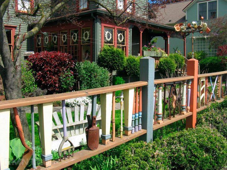 строительство садовых заборов