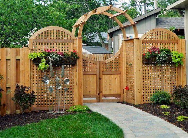 садовый забор постройка