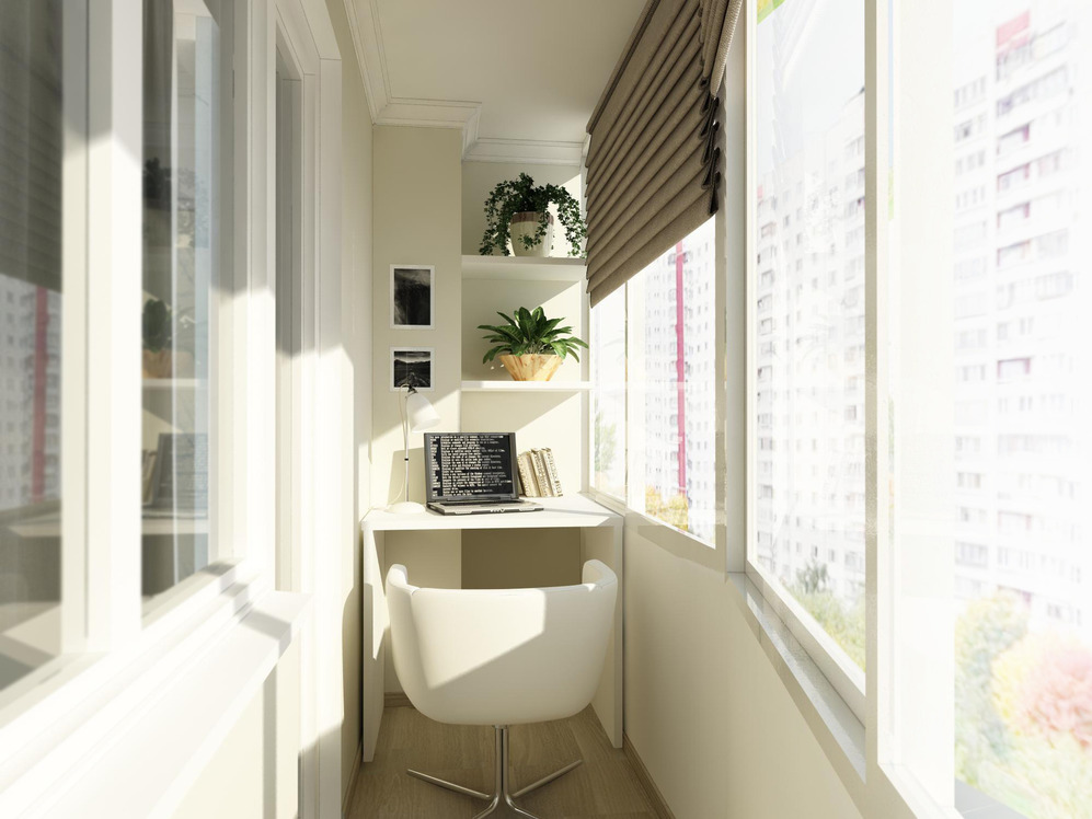 балкон со шкафом