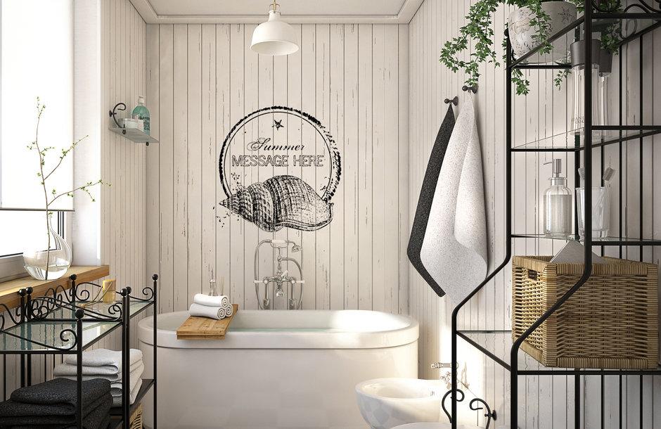 плитка в ванную комнату скандинавский стиль