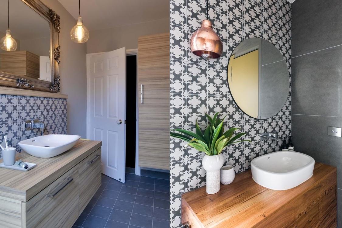 скандинавская ванная комната фото
