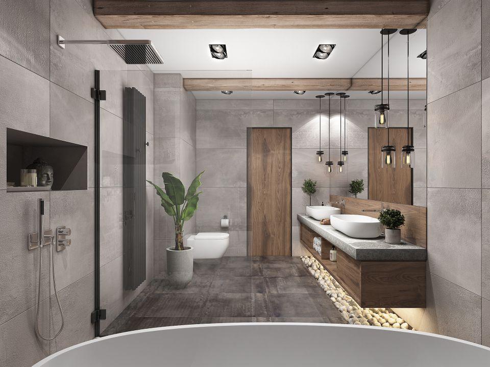 скандинавский стиль в интерьере ванной комнаты