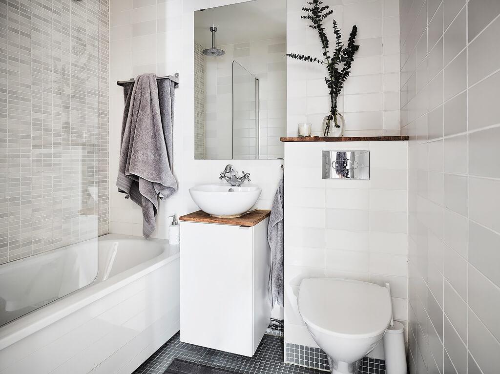 ванная комната в скандинавском стиле в хрущевке