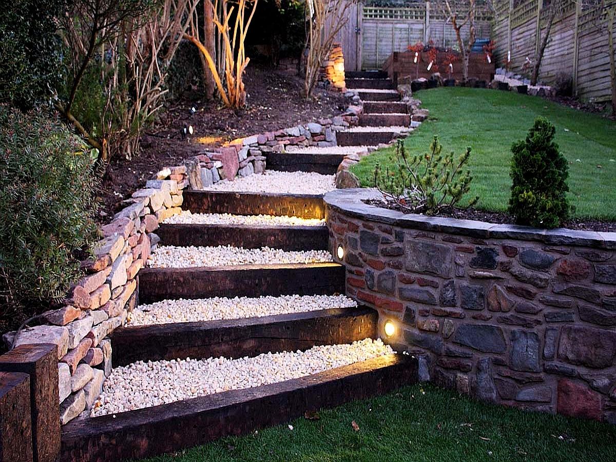лестницы в саду фото