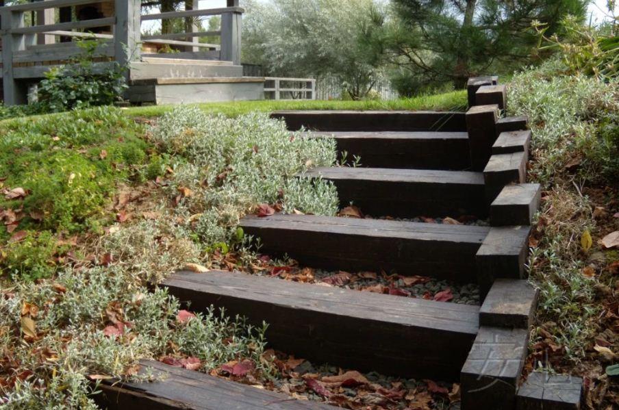 лестницы в дизайне сада