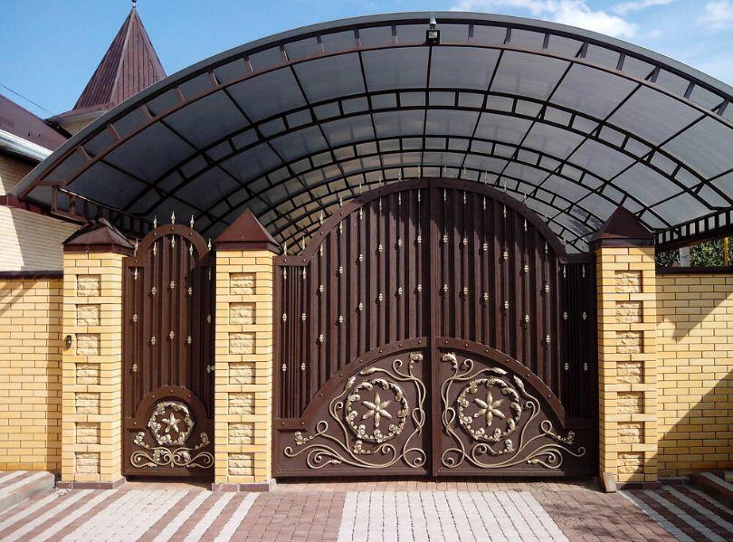 въездные ворота на территорию